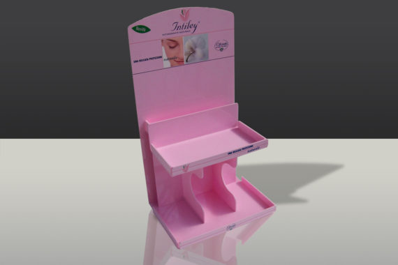 INTILEY-display da banco per settore farmaceutico