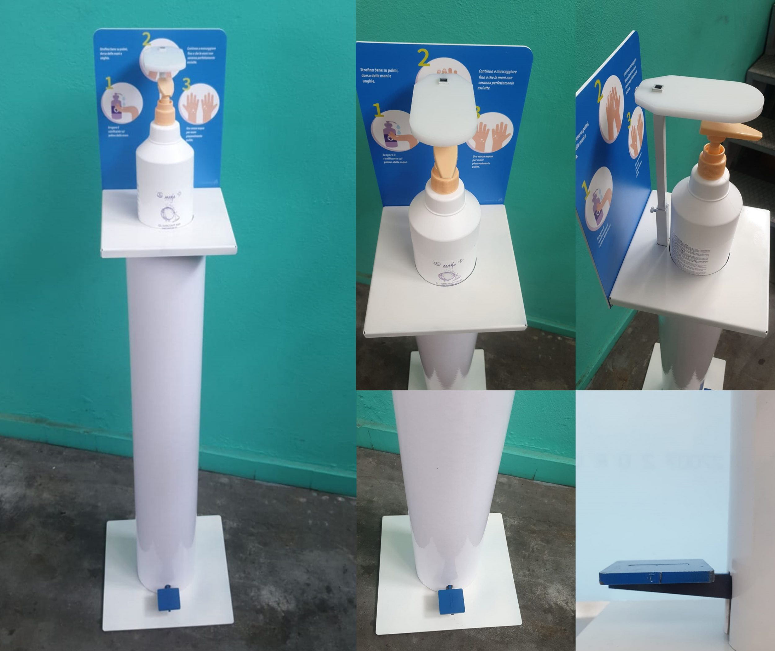 colonna dispenser pedale